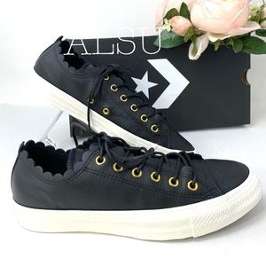 Converse Chuck Taylor Leather Low Top Black GoldW